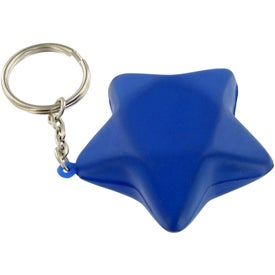 Printed Star Keychain Stress Toy
