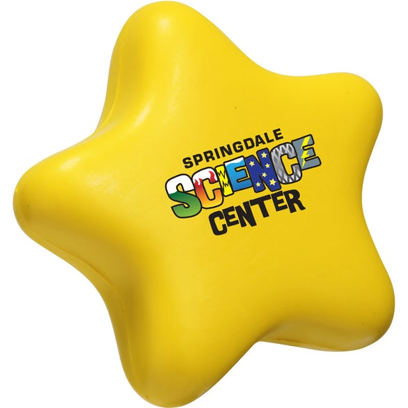 Yellow Star Slo-Release Serenity Stress Ball