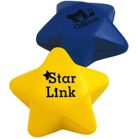 Star Shaped Stress Ball Printed with Your Logo