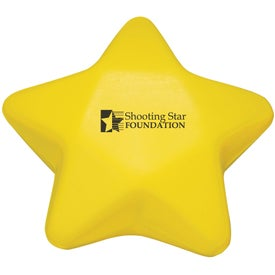 Star Shaped Stress Ball Imprinted with Your Logo