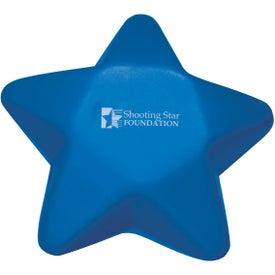 Imprinted Custom Star Stress Ball