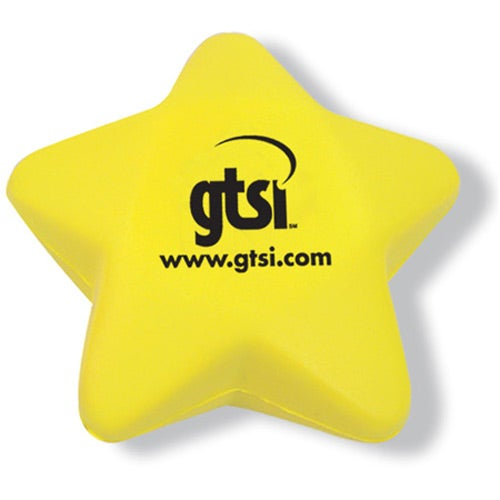 Yellow Squeezable Star Stress Ball