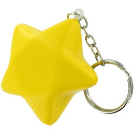 Star Stress Ball Key Chain for Your Organization