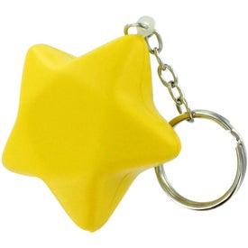 Star Stress Ball Key Chain for Your Organization