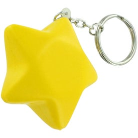 Branded Star Stress Ball Key Chain