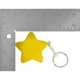 Monogrammed Star Stress Ball Key Chain