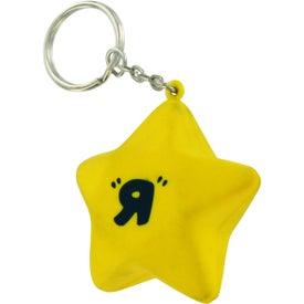 Customized Star Stress Ball Key Chain