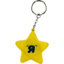 Star Stress Ball Key Chain