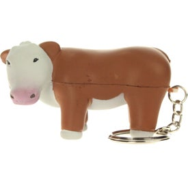 Customized Steer Stress Reliever Keyring