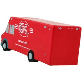 Personalized Step Van Stress Toy