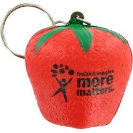 Logo Strawberry Keychain Stress Toy