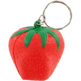 Strawberry Keychain Stress Toy for Marketing