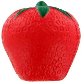 Imprinted Strawberry Stress Ball