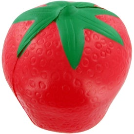 Strawberry Stress Toy with Your Logo
