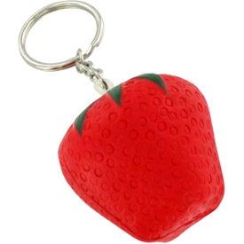 Personalized Strawberry Stress Ball Key Chain