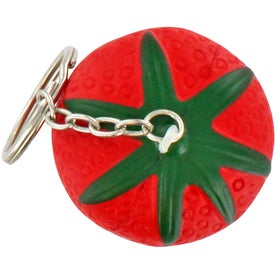 Strawberry Stress Ball Key Chain Printed with Your Logo