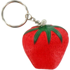 Strawberry Stress Ball Key Chain