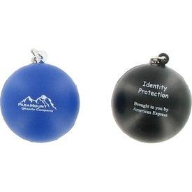 Personalized Stress Ball Key Chain