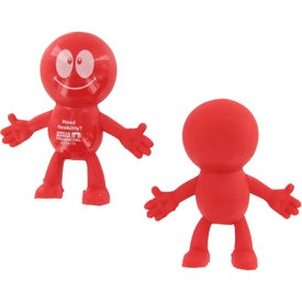 Strictly Stretchy Dude Stress Ball with Your Slogan