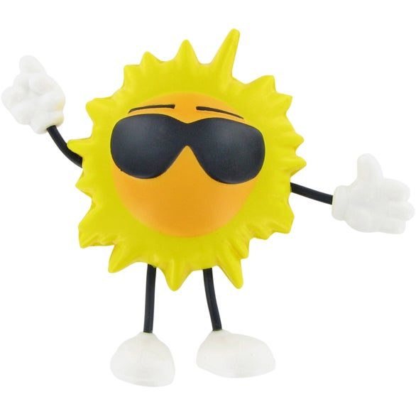Yellow Sun Figure Stress Ball
