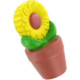Logo Sunflower in Pot Stress Ball