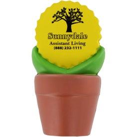Imprinted Sunflower in Pot Stress Ball