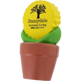Sunflower in Pot Stress Ball for Customization