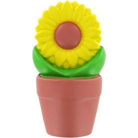 Advertising Sunflower in Pot Stress Ball