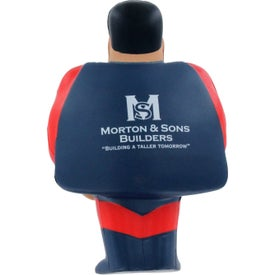 Super Hero Stress Ball with Your Slogan