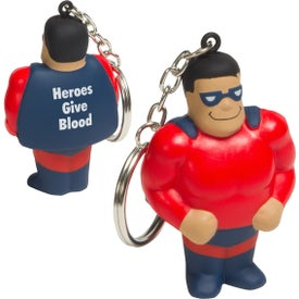 Super Hero Stress Ball Key Chain
