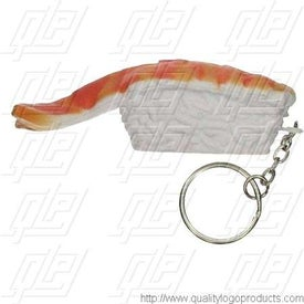 Sushi Shrimp Stress Ball Key Chain for Your Church