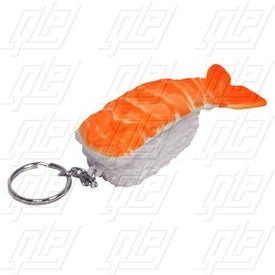 Sushi Shrimp Stress Ball Key Chain