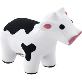 Talking Cow Stress Reliever with Your Slogan