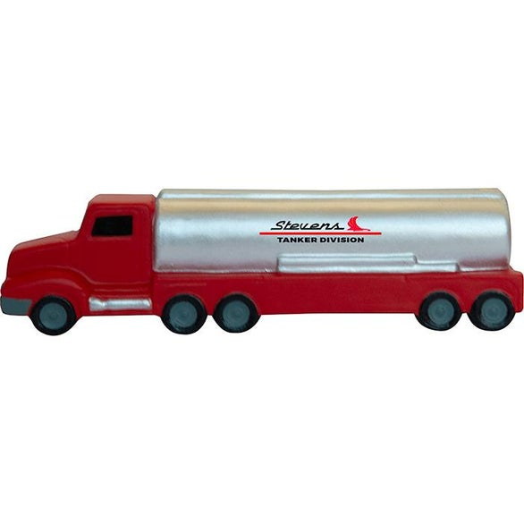 Silver / Red Tank Truck Stress Reliever