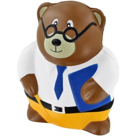 Teacher Bear Stress Ball Imprinted with Your Logo