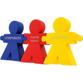 Teamwork Puzzle Set with Your Slogan