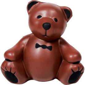 Imprinted Teddy Bear Stress Ball