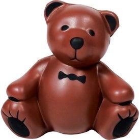 Imprinted Teddy Bear Stress Ball