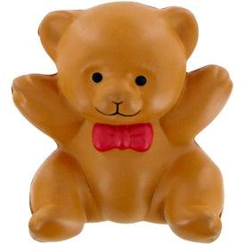 Monogrammed Teddy Bear Stress Toy