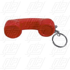 Telephone Receiver Stress Ball Key Chain