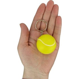 Tennis Stress Ball Key Chain Printed with Your Logo