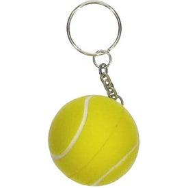 Printed Tennis Stress Ball Key Chain