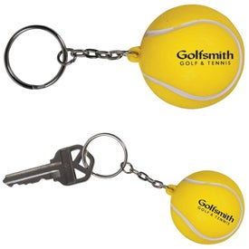 Tennis Stress Ball Key Chain (Economy)