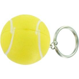 Personalized Tennis Stress Ball Key Chain