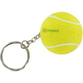 Imprinted Tennis Stress Ball Key Chain