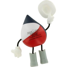 Texas Figure Stress Ball Branded with Your Logo