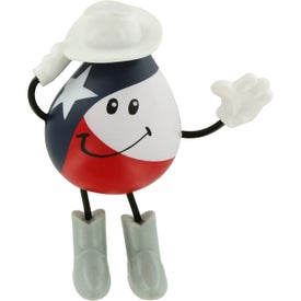 Texas Figure Stress Ball for Your Company