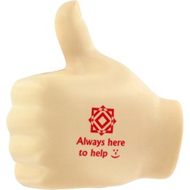 Thumbs Up Stress Ball with Your Logo