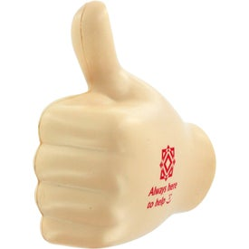Advertising Thumbs Up Stress Ball