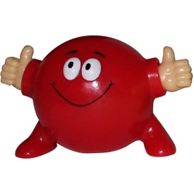 Thumbs Up Poppin' Pal Stress Ball Printed with Your Logo
